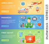 paramedic horizontal banners... | Shutterstock .eps vector #465481115