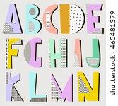 modern alphabet in geometric... | Shutterstock .eps vector #465481379