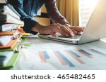 businessman hand working with... | Shutterstock . vector #465482465