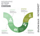 step by step infographic can be ... | Shutterstock .eps vector #465483407