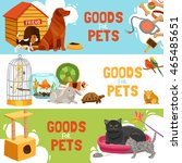 home pets three horizontal... | Shutterstock .eps vector #465485651