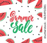 summer sale   hand drawn... | Shutterstock .eps vector #465491081