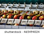 clean and fresh apples on... | Shutterstock . vector #465494024