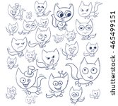 funny cats contour. suitable... | Shutterstock .eps vector #465499151
