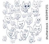 funny cats contour. suitable... | Shutterstock .eps vector #465499151