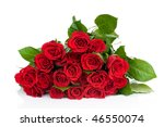 Stock photo roses bouquet isolated on white background 46550074