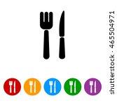 web line icon. cutlery  fork ... | Shutterstock .eps vector #465504971