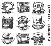 american football black white... | Shutterstock .eps vector #465511955