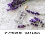 perfume with lavender on white... | Shutterstock . vector #465512501