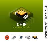 chip color icon  vector symbol...