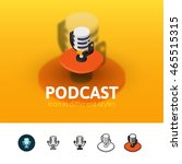 podcast color icon  vector... | Shutterstock .eps vector #465515315