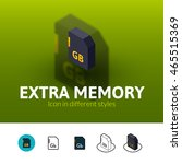 extra memory color icon  vector ...