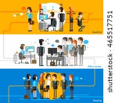 office people cartoon... | Shutterstock .eps vector #465517751