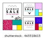 summer sale banners. memphis...