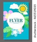 spring sale concept hanging... | Shutterstock .eps vector #465519035