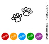 web line icon. animal footprint. | Shutterstock .eps vector #465520277