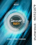 summer party poster with... | Shutterstock .eps vector #465521879
