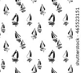 hand drawn sailing yachts... | Shutterstock .eps vector #465523151