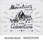 mountains handdrawn sketch... | Shutterstock . vector #465525194
