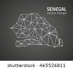 senegal black triangle vector... | Shutterstock .eps vector #465526811