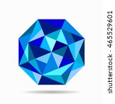 abstract blue octagon... | Shutterstock .eps vector #465529601
