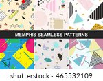 set of vector abstract seamless ... | Shutterstock .eps vector #465532109
