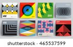 retro covers set. colorful... | Shutterstock .eps vector #465537599