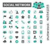 social network icons | Shutterstock .eps vector #465541055