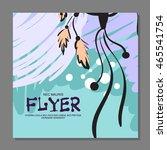 unique flyer with dreamcatcher...   Shutterstock .eps vector #465541754