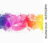 colorful splash horizontal   Shutterstock . vector #465542894