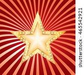golden red star on grunge burst  | Shutterstock .eps vector #465542921