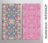 vertical seamless patterns set  ... | Shutterstock .eps vector #465543629