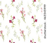 watercolor pattern flowers ... | Shutterstock . vector #465545999