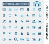 engineering construction icons | Shutterstock .eps vector #465546464