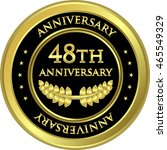 forty eighth anniversary black... | Shutterstock .eps vector #465549329