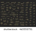 vintage decor elements and... | Shutterstock .eps vector #465553751