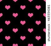 pink hearts seamless pattern on ... | Shutterstock . vector #465554381