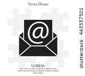 e mail icon. vector... | Shutterstock .eps vector #465557501