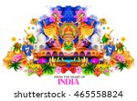 illustration of india... | Shutterstock .eps vector #465558824