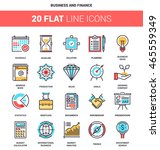 vector set of business and... | Shutterstock .eps vector #465559349