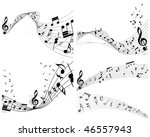 musical notes staff backgrounds ... | Shutterstock . vector #46557943