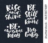 vector set of lettering phrase. ... | Shutterstock .eps vector #465587489