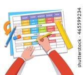 school teacher or student... | Shutterstock .eps vector #465599234
