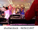 dancing couples during party or ... | Shutterstock . vector #465611447