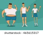 handsome person in a different... | Shutterstock .eps vector #465615317