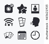 hipster photo camera icon.... | Shutterstock .eps vector #465621935