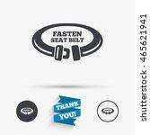 fasten seat belt sign icon.... | Shutterstock .eps vector #465621941