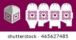 wedding bonbonniere with hearts.... | Shutterstock .eps vector #465627485