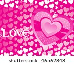 abstract pink romantic heart... | Shutterstock .eps vector #46562848