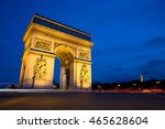arc de triomphe at night  paris | Shutterstock . vector #465628604
